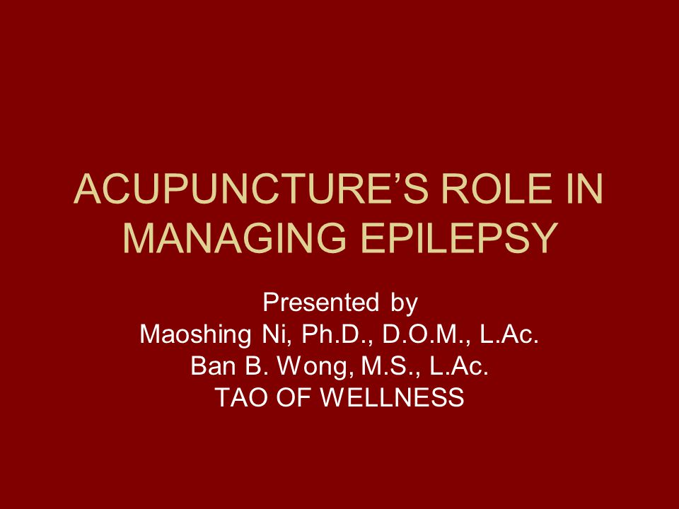 ACUPUNCTURE'S ROLE IN MANAGING EPILEPSY