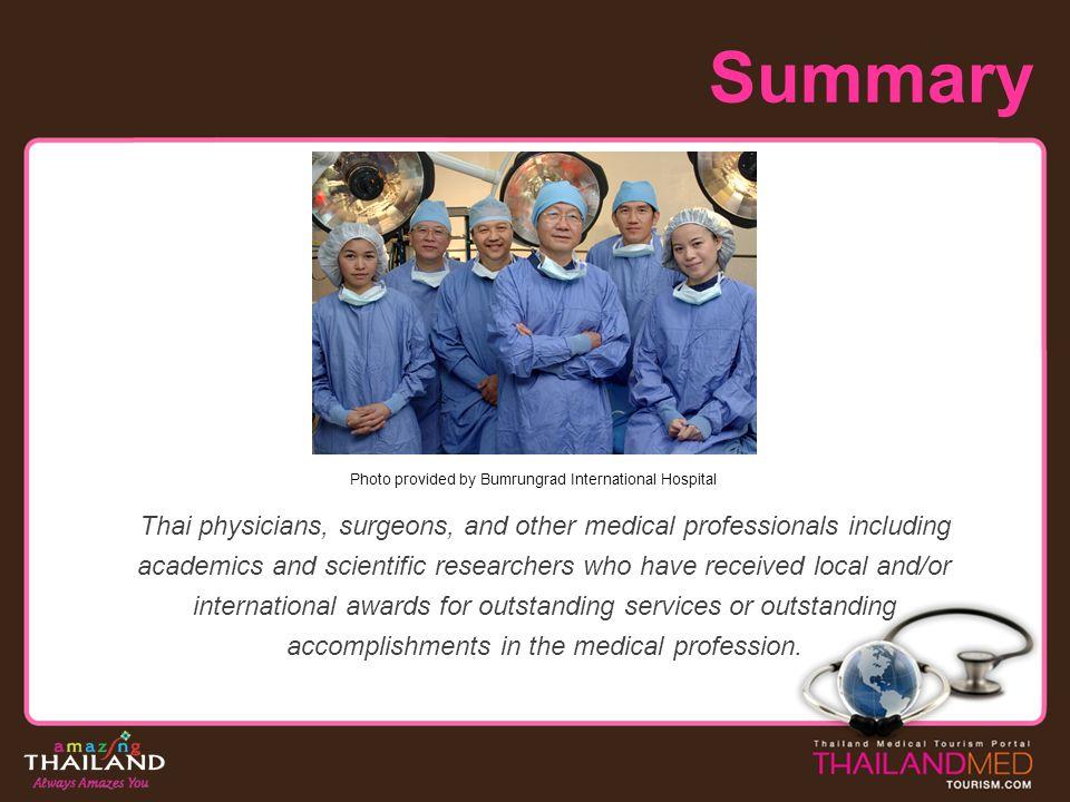 Summary Photo provided by Bumrungrad International Hospital.