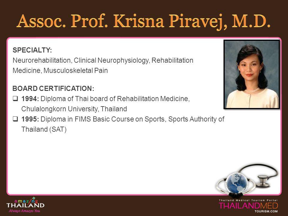 Assoc. Prof. Krisna Piravej, M.D.