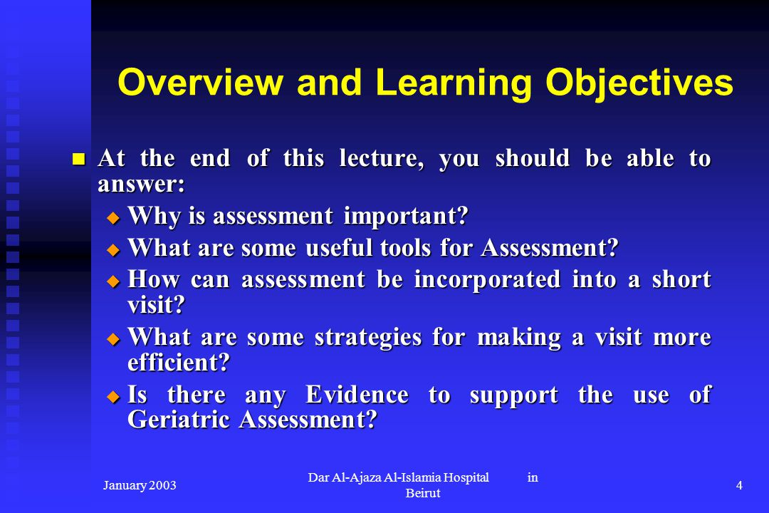 Overview and Learning Objectives