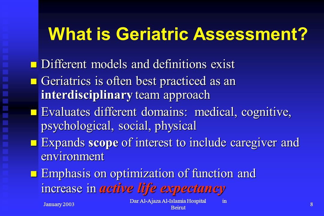 What is Geriatric Assessment