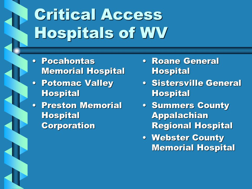 Critical Access Hospitals of WV