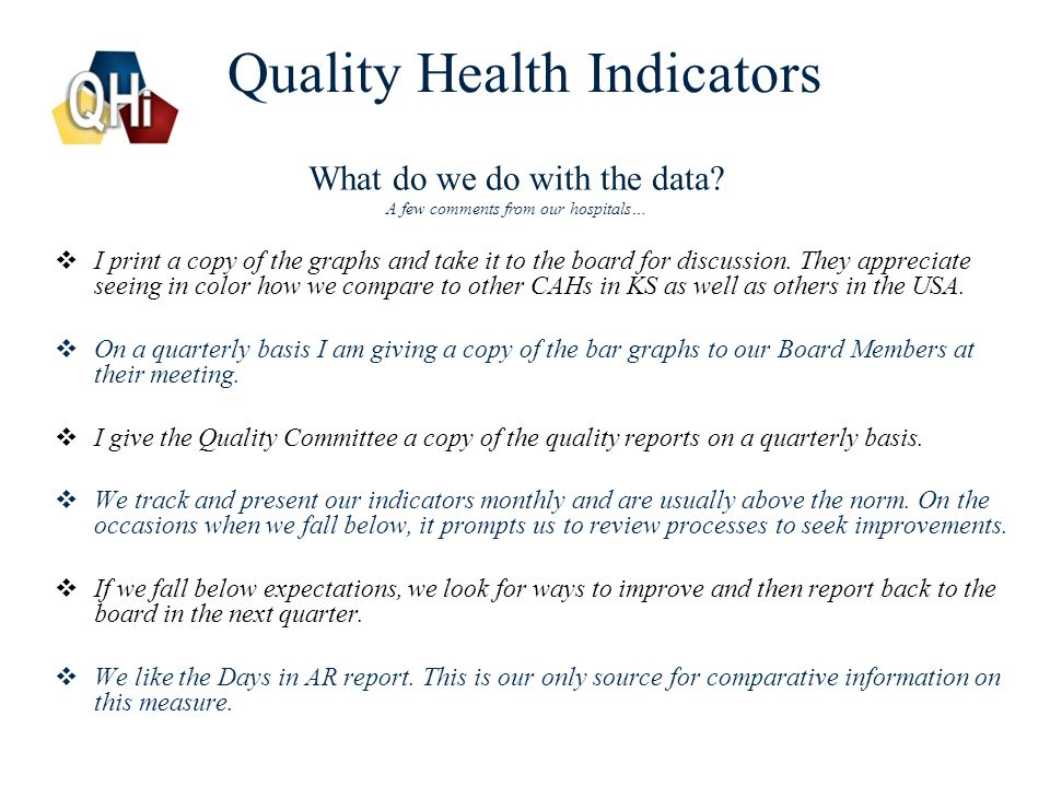 Quality Health Indicators