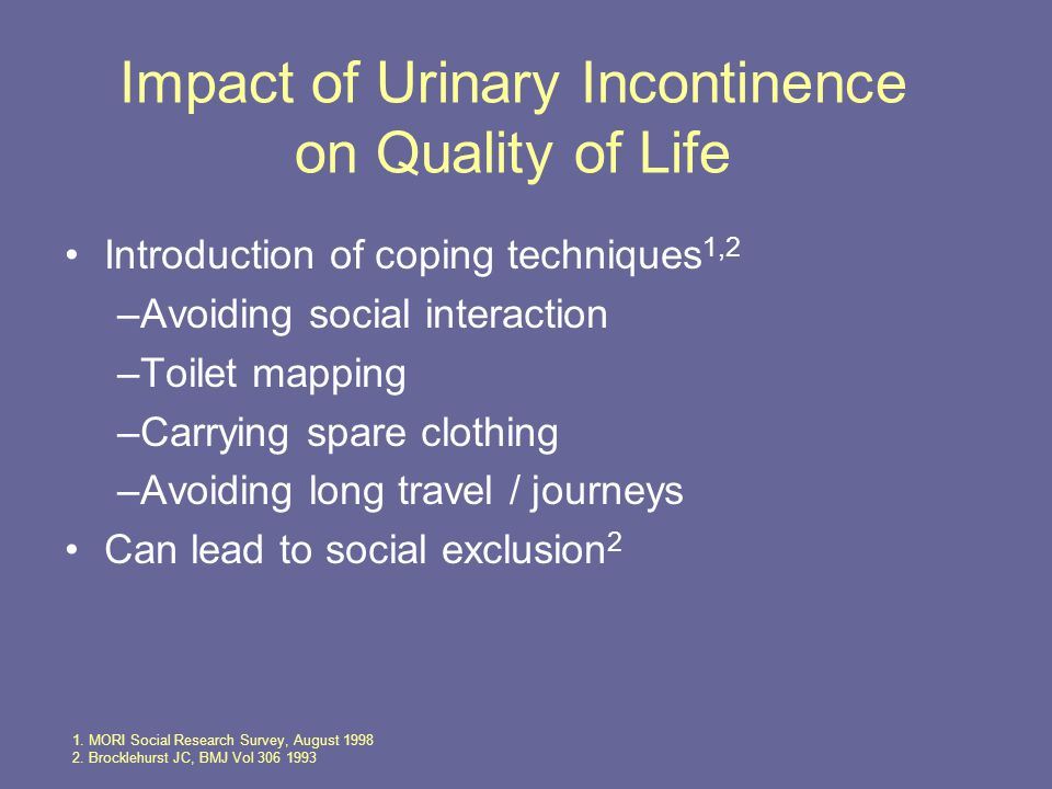 Impact of Urinary Incontinence on Quality of Life