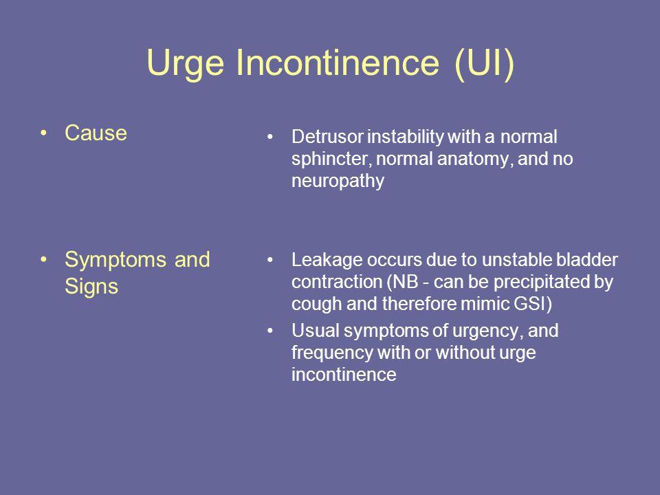 Urge Incontinence (UI)