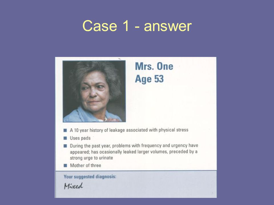 Case 1 - answer