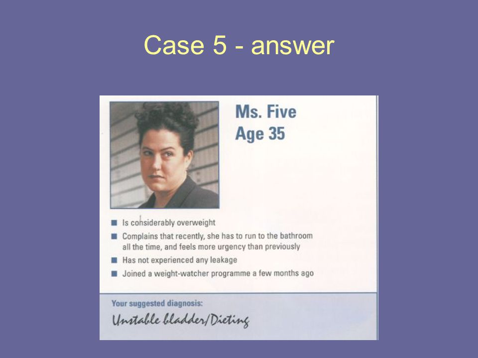 Case 5 - answer