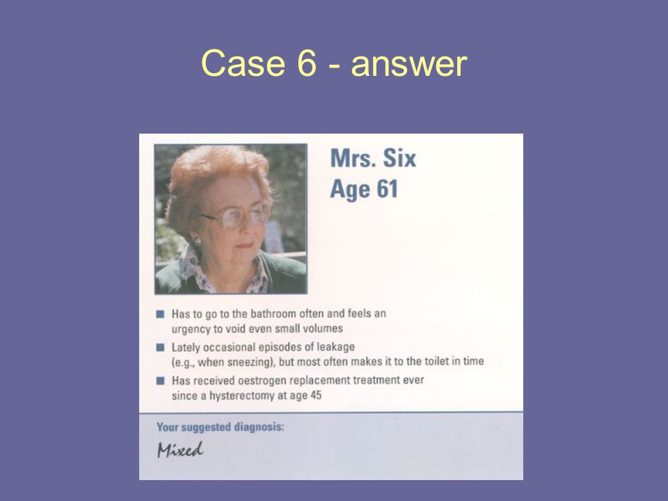 Case 6 - answer