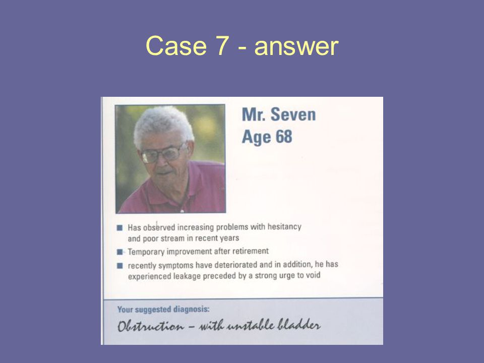 Case 7 - answer