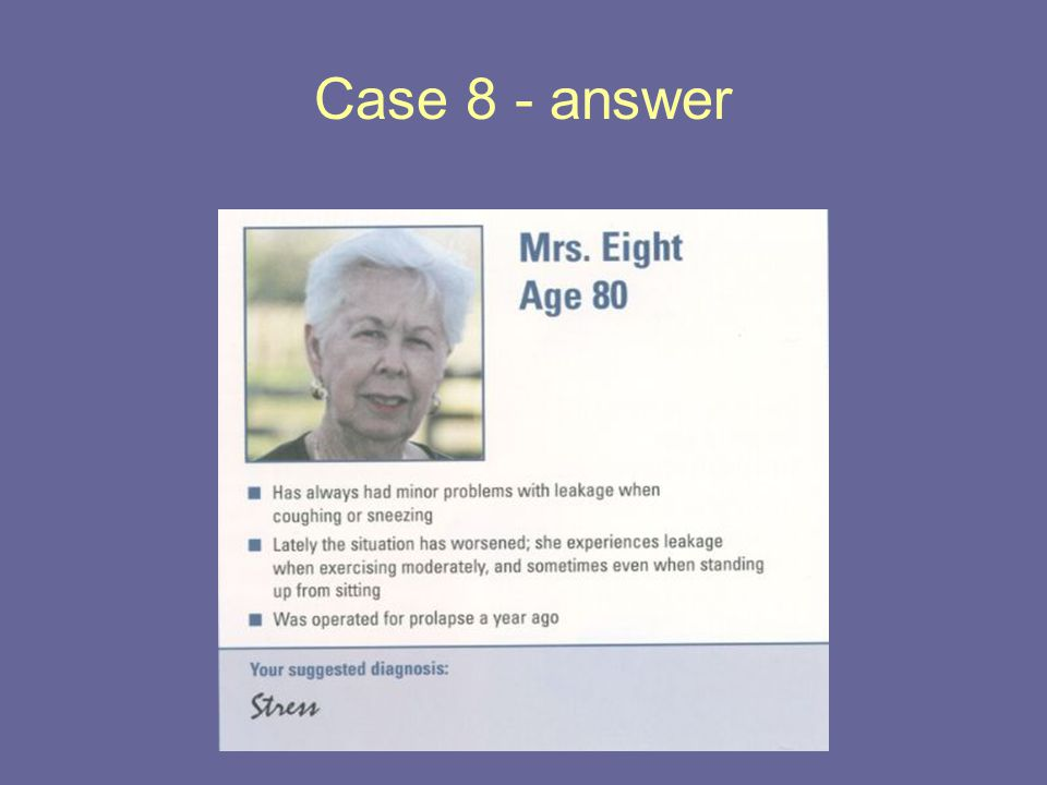 Case 8 - answer