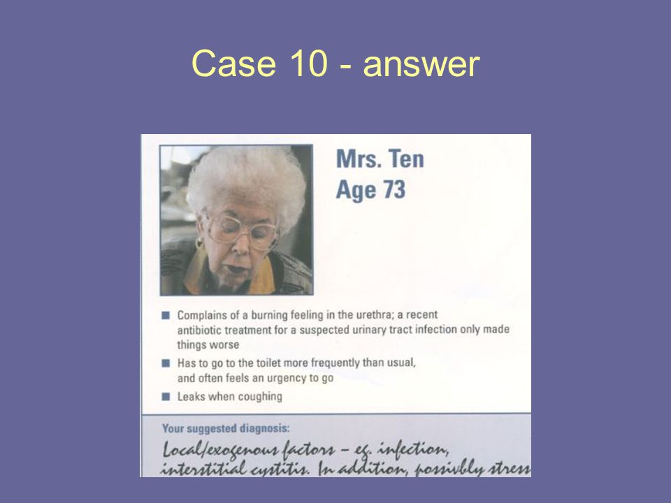 Case 10 - answer
