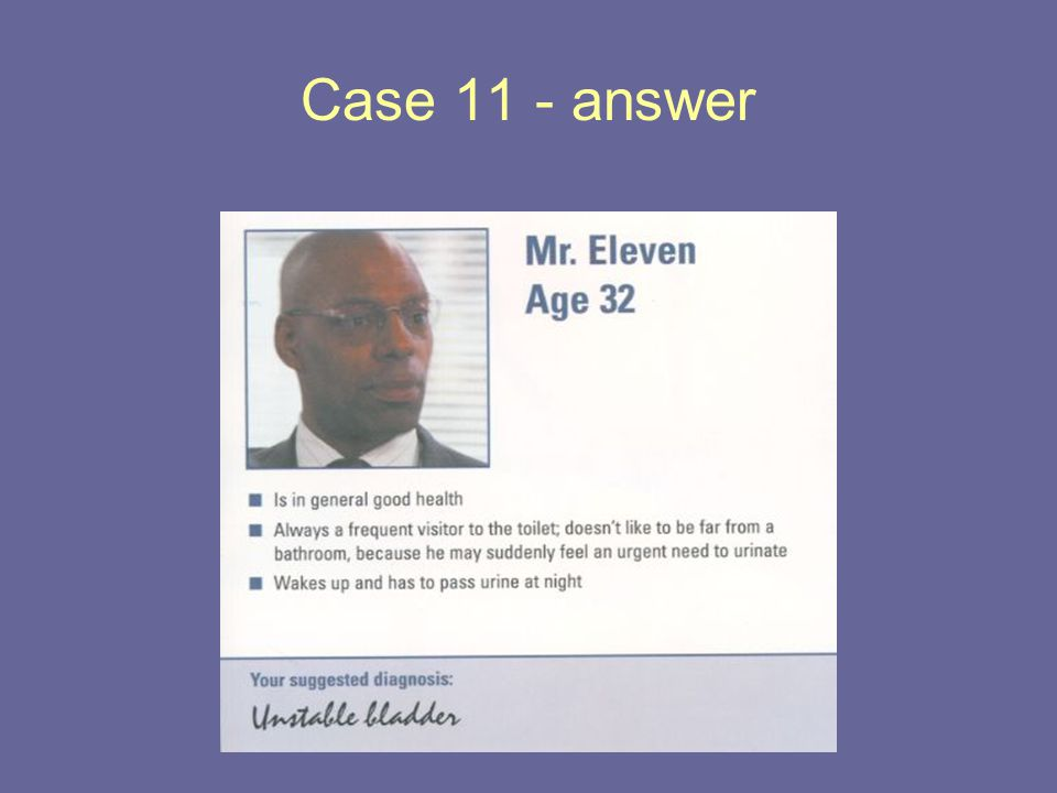 Case 11 - answer