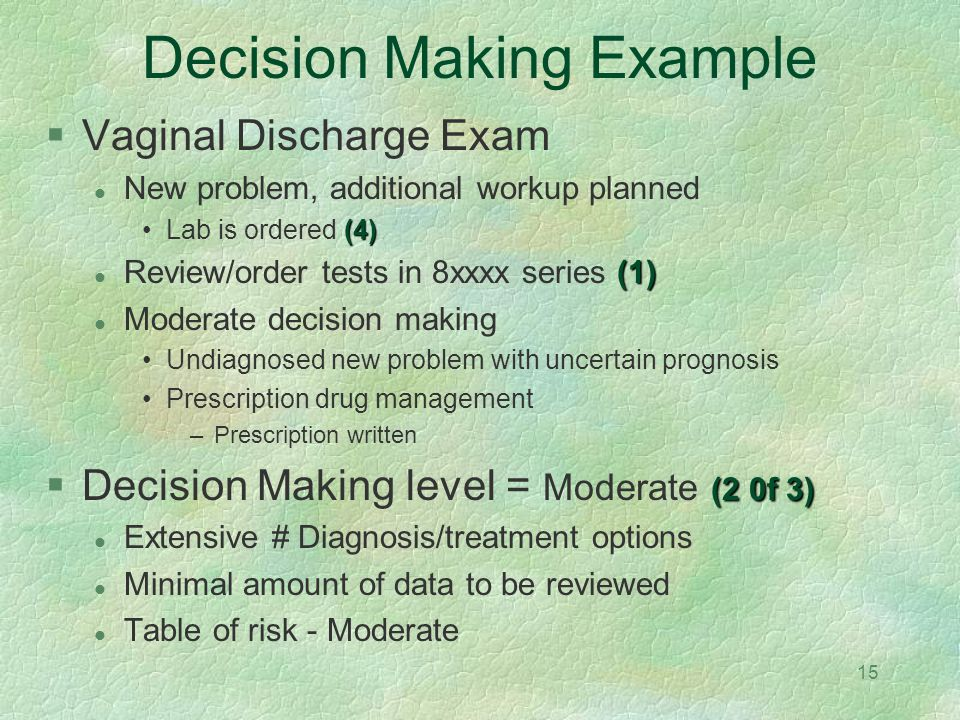 Decision Making Example