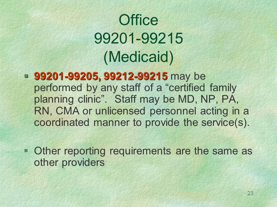 Office (Medicaid)