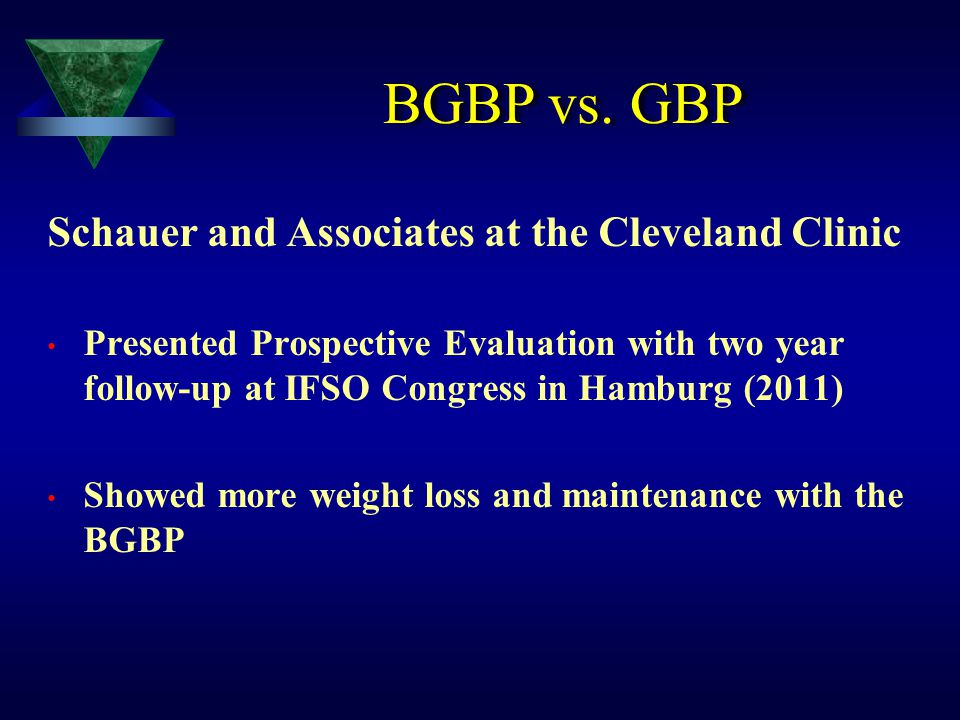 BGBP vs. GBP Schauer and Associates at the Cleveland Clinic