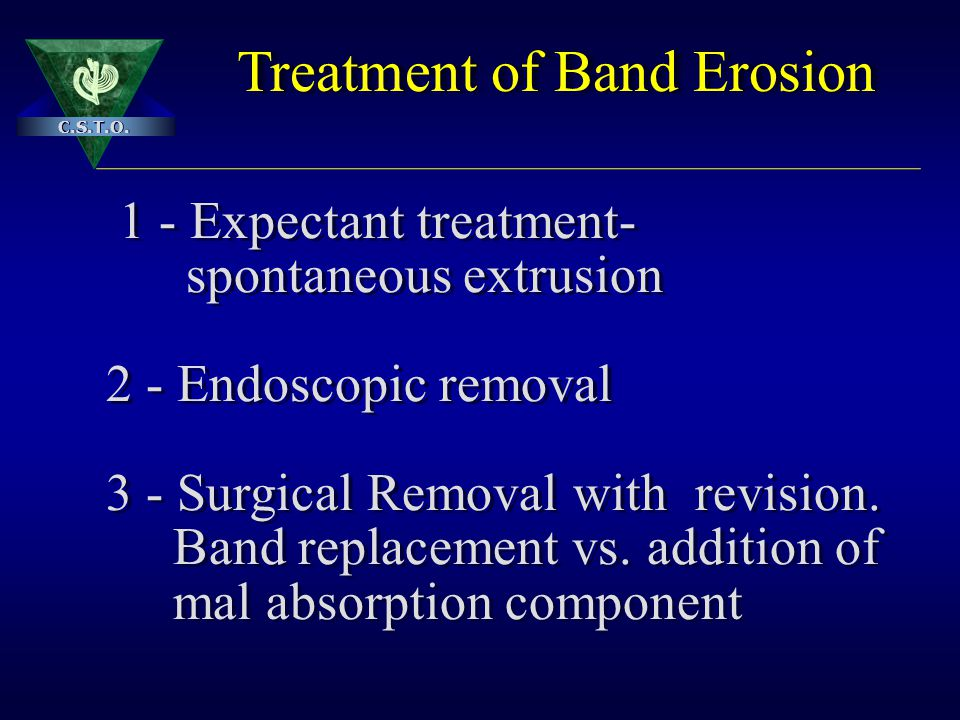 Treatment of Band Erosion