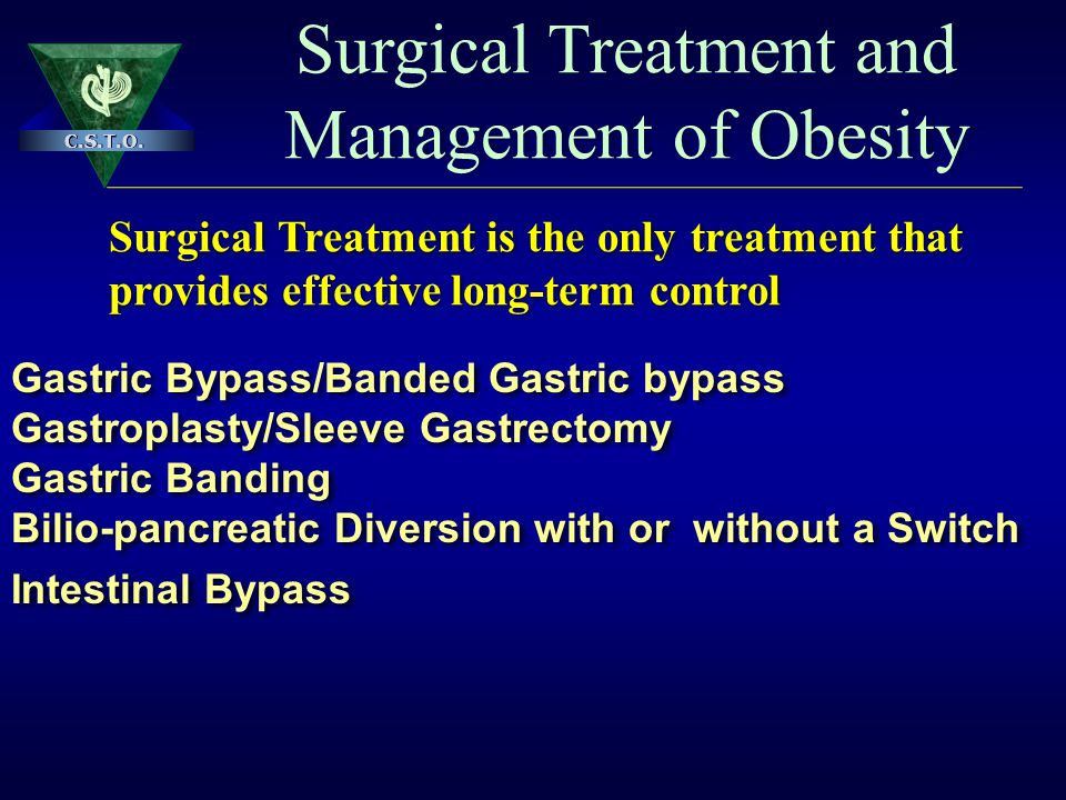 Surgical Treatment and Management of Obesity