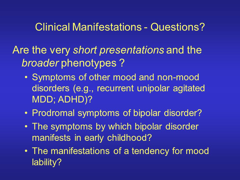 Clinical Manifestations - Questions