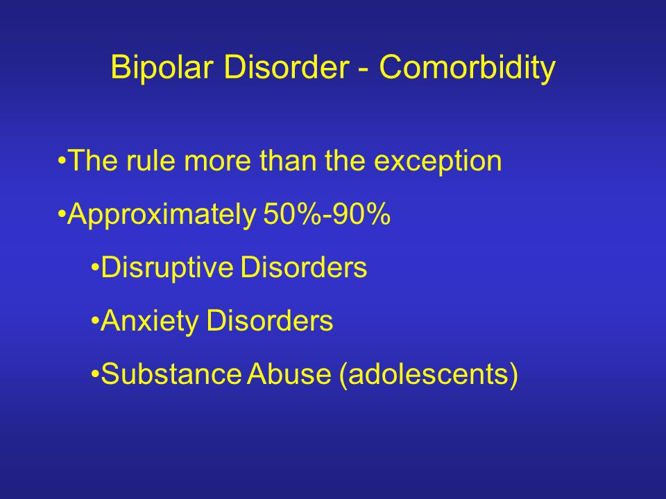 Bipolar Disorder - Comorbidity