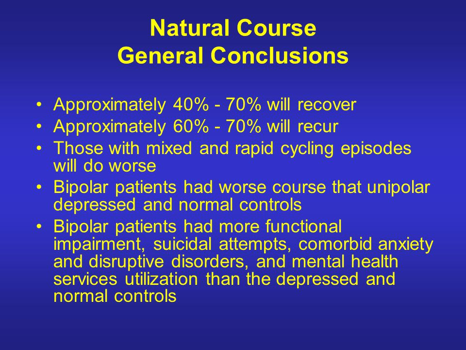 Natural Course General Conclusions
