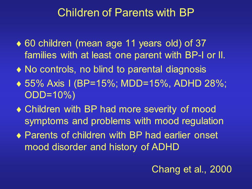 Children of Parents with BP