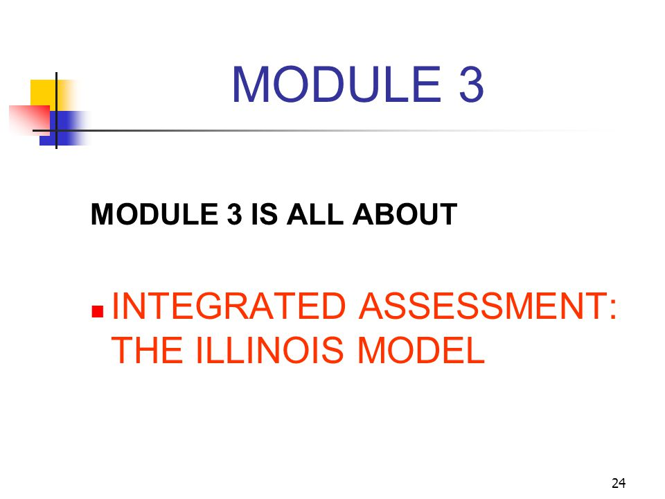 MODULE 3 INTEGRATED ASSESSMENT: THE ILLINOIS MODEL