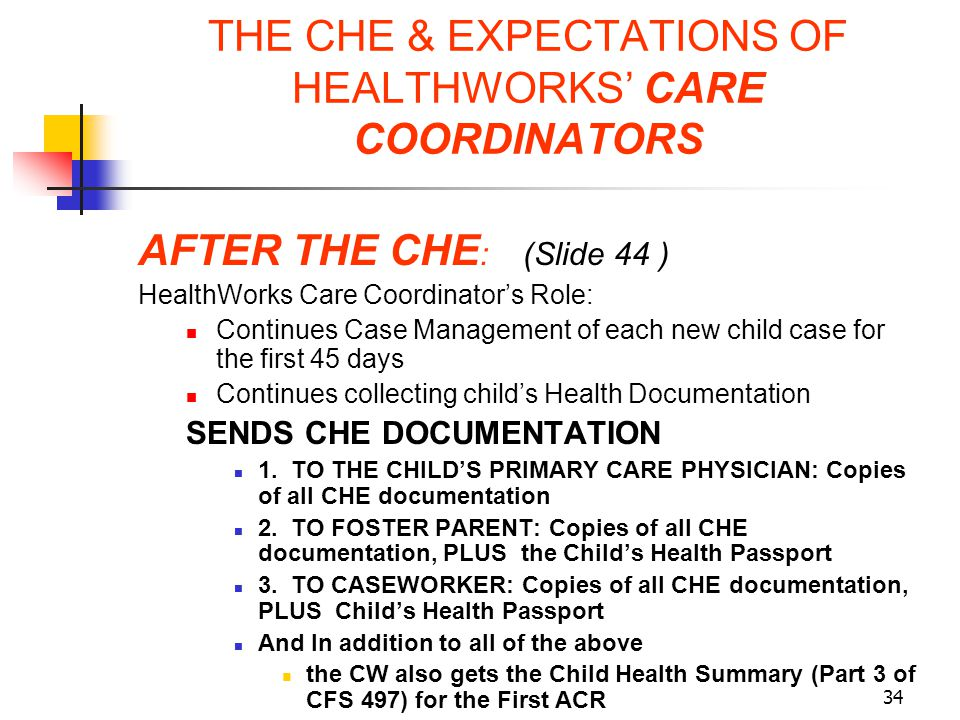 THE CHE & EXPECTATIONS OF HEALTHWORKS' CARE COORDINATORS