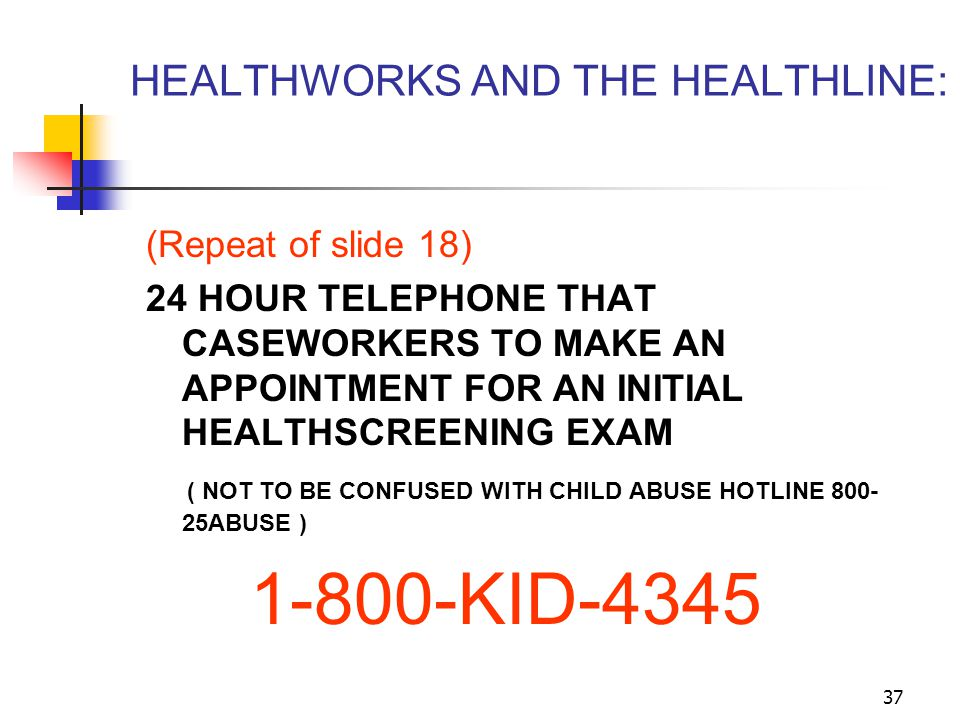 HEALTHWORKS AND THE HEALTHLINE: