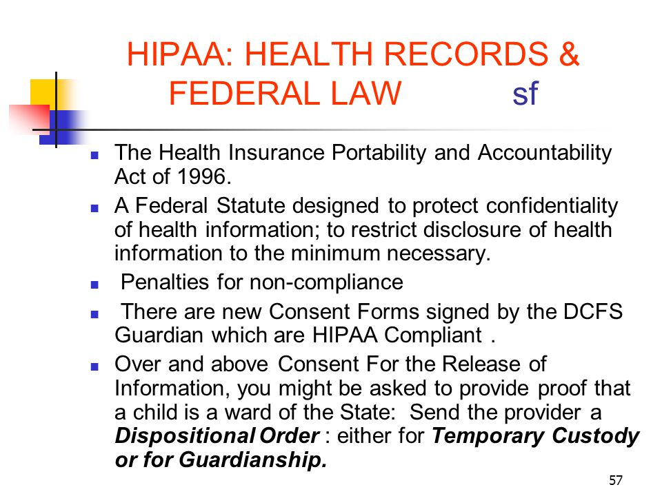 HIPAA: HEALTH RECORDS & FEDERAL LAW sf