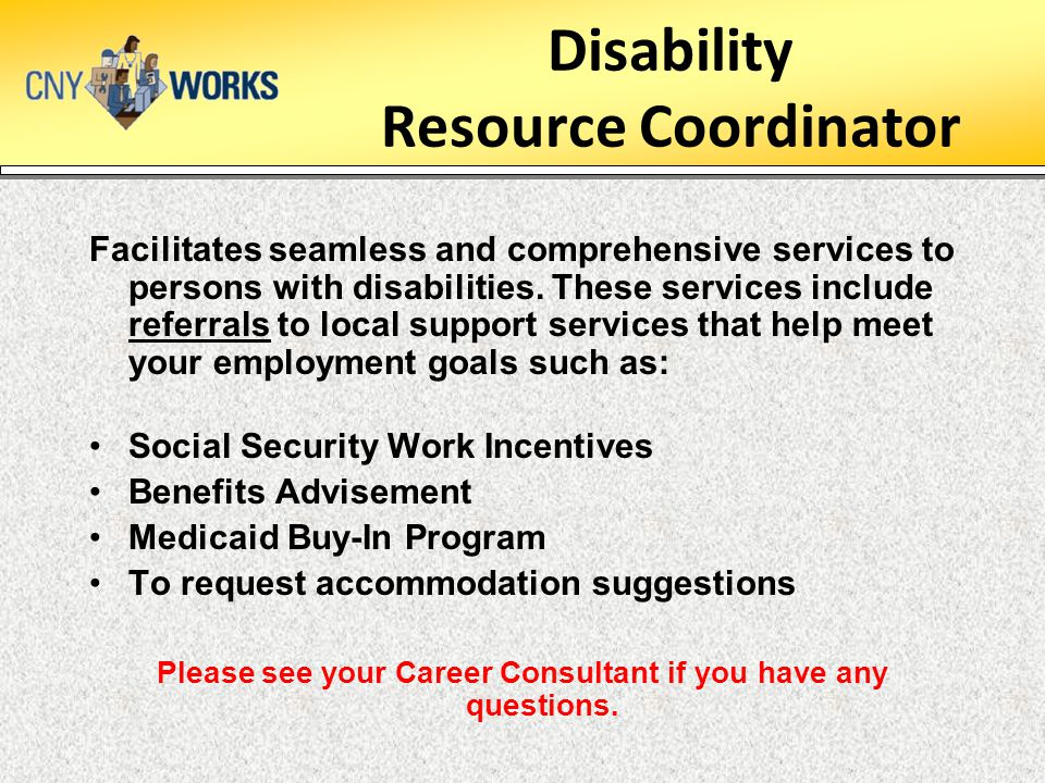 Disability Resource Coordinator