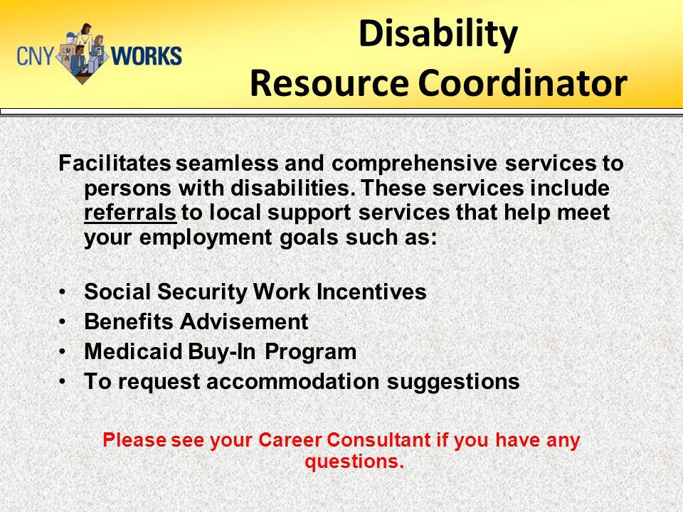 Disability Resource Coordinator