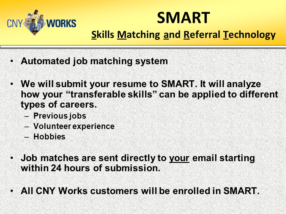 SMART Skills Matching and Referral Technology