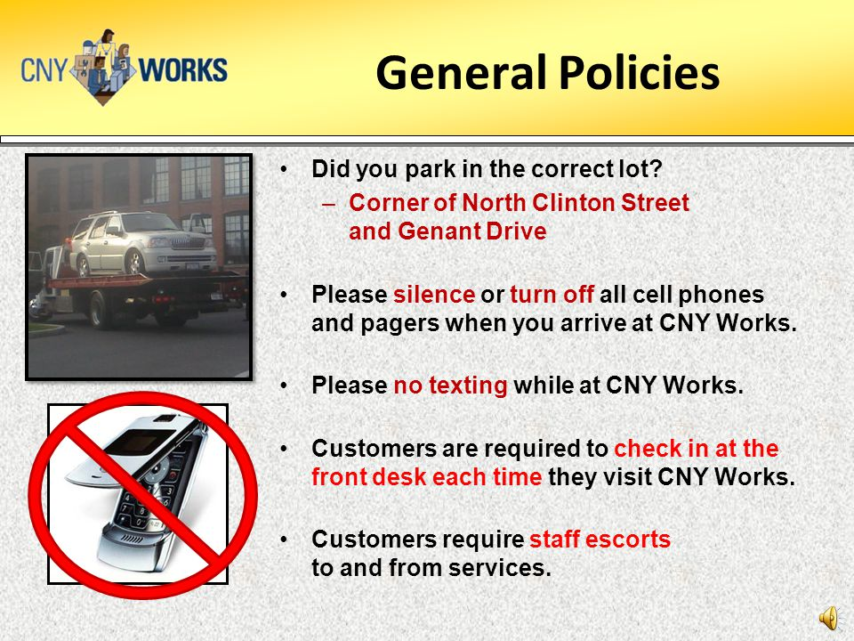 General Policies Did you park in the correct lot