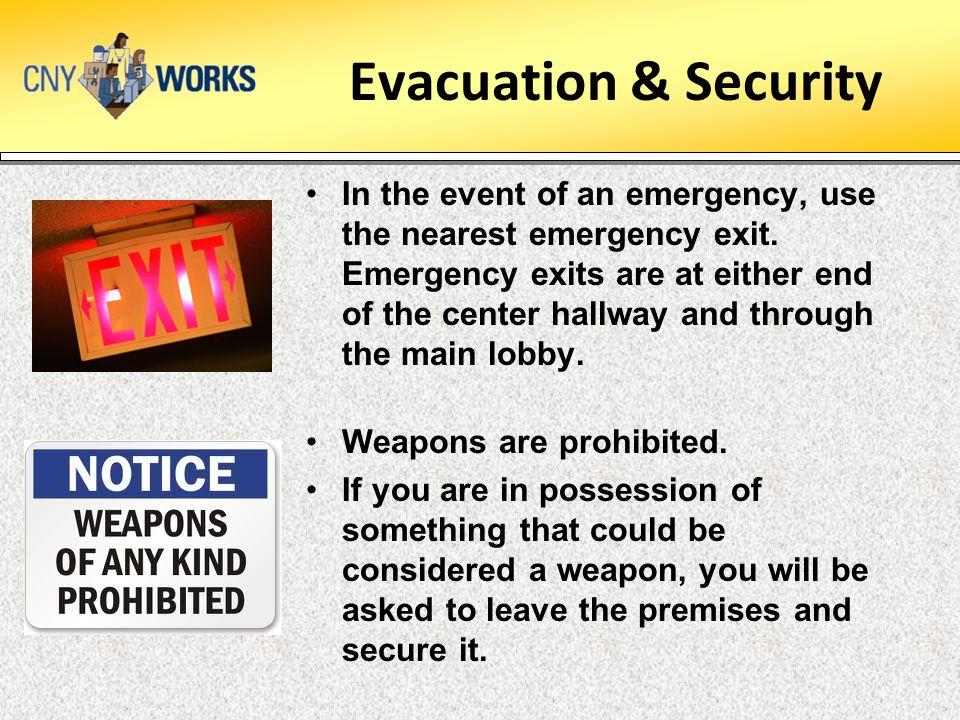 Evacuation & Security