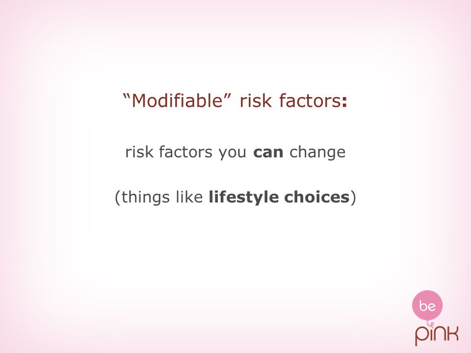 Modifiable risk factors: