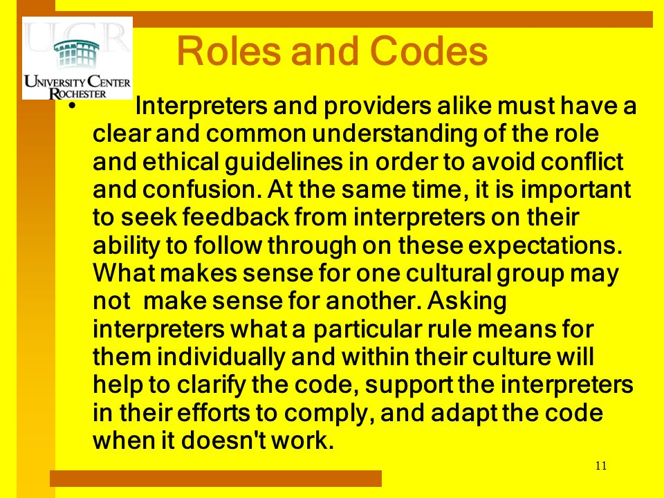 Roles and Codes