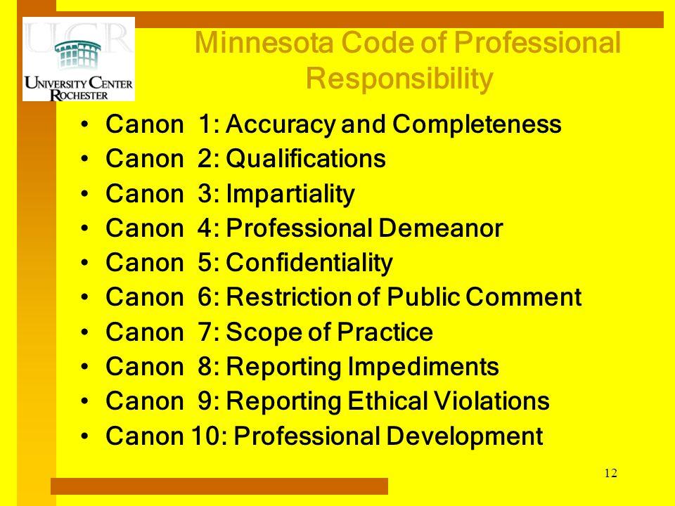 Minnesota Code of Professional Responsibility