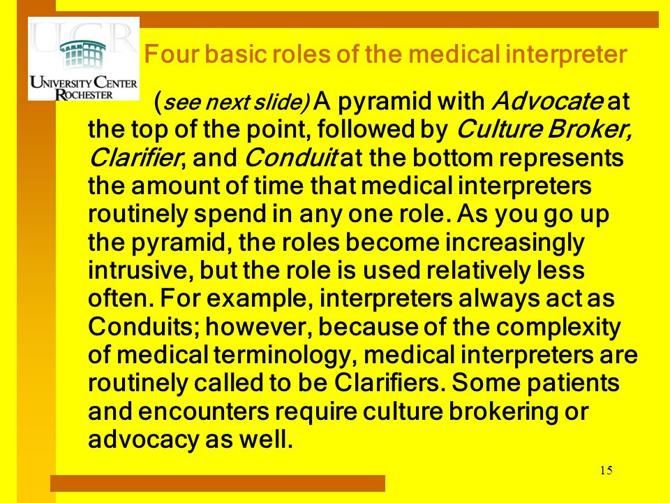 four basic roles of the medical interpreter medical interpreter duties
