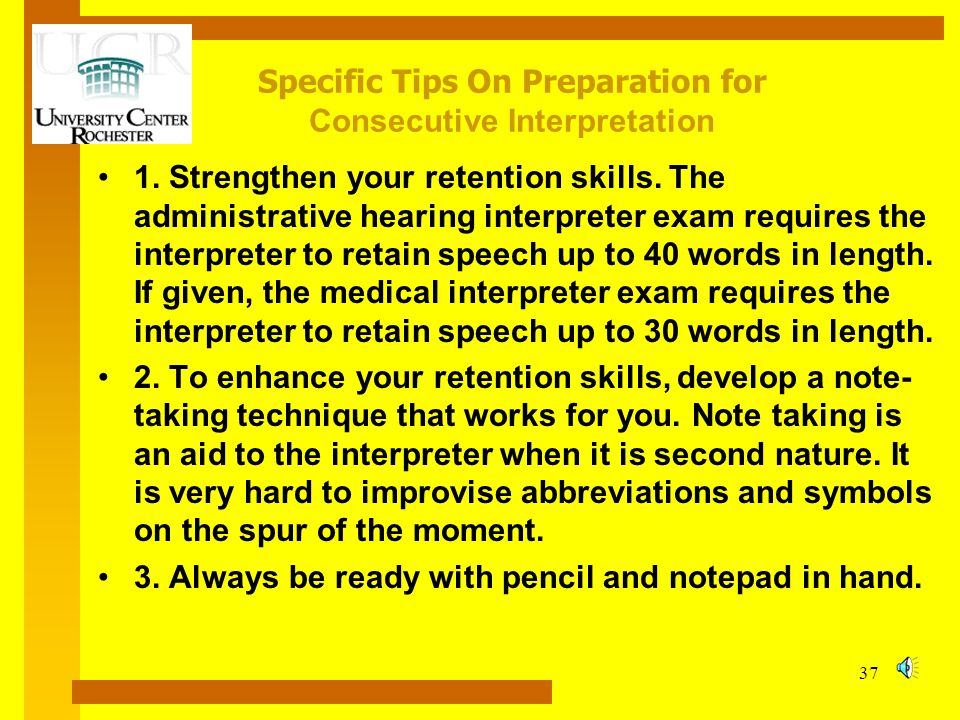 Specific Tips On Preparation for Consecutive Interpretation