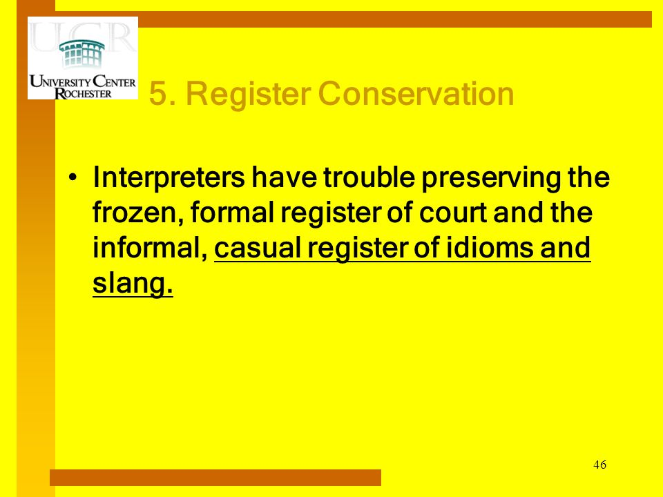 5. Register Conservation
