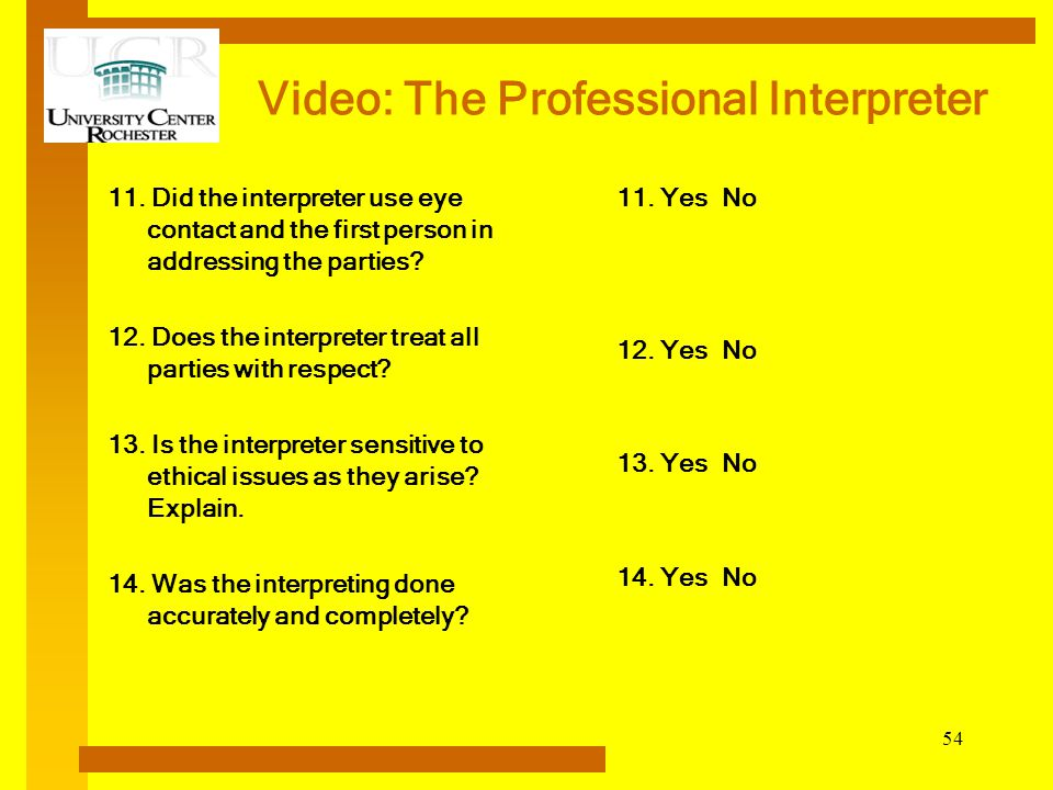 Video: The Professional Interpreter