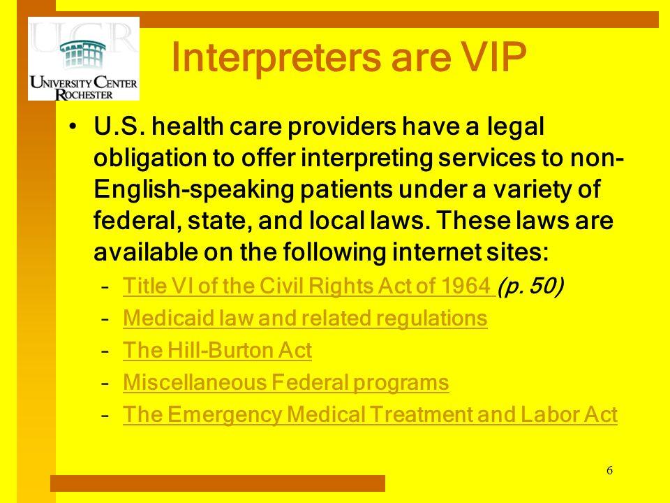 Interpreters are VIP