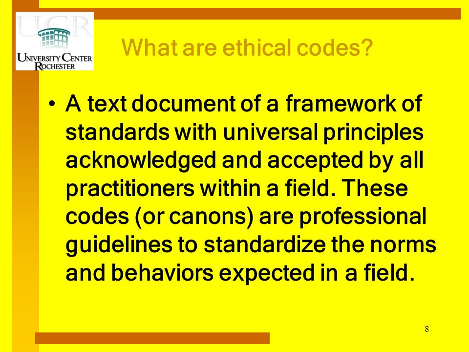 What are ethical codes