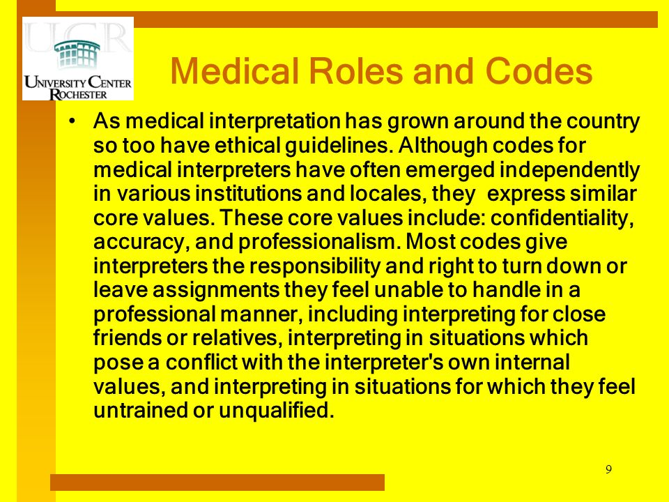 Medical Roles and Codes