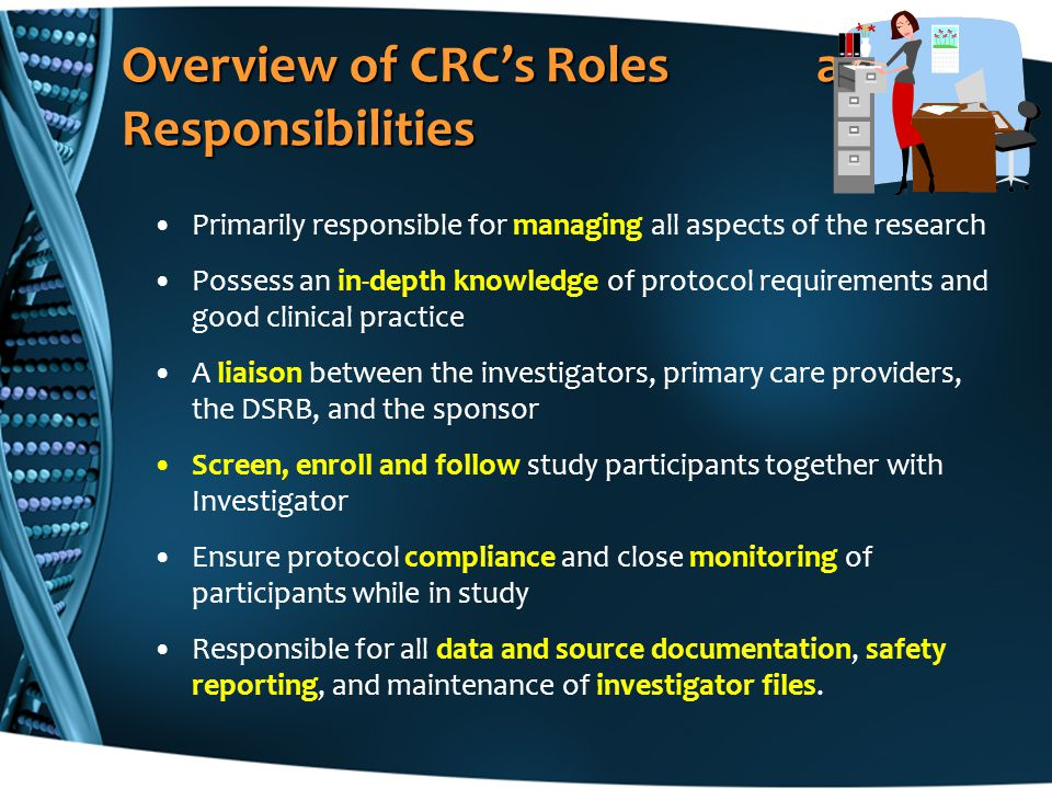 Overview of CRC's Roles and Responsibilities
