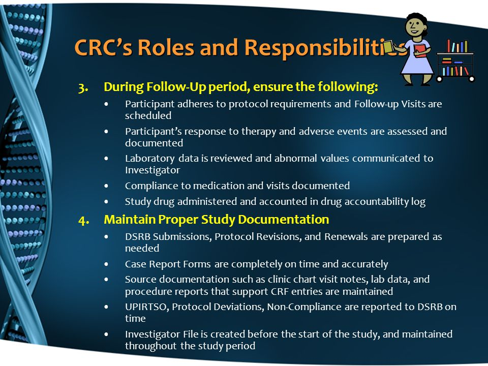 CRC's Roles and Responsibilities