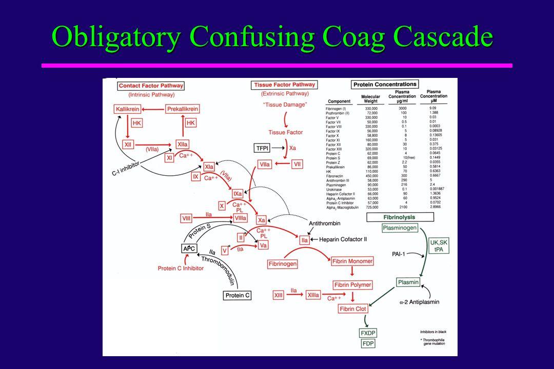 Obligatory Confusing Coag Cascade