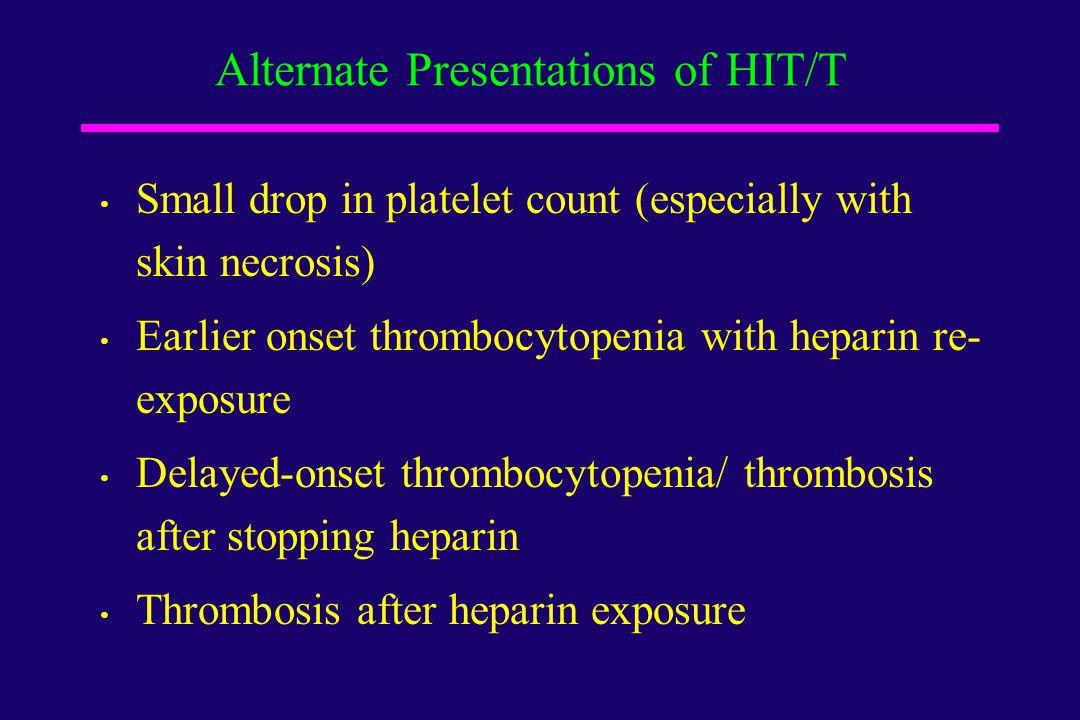 Alternate Presentations of HIT/T