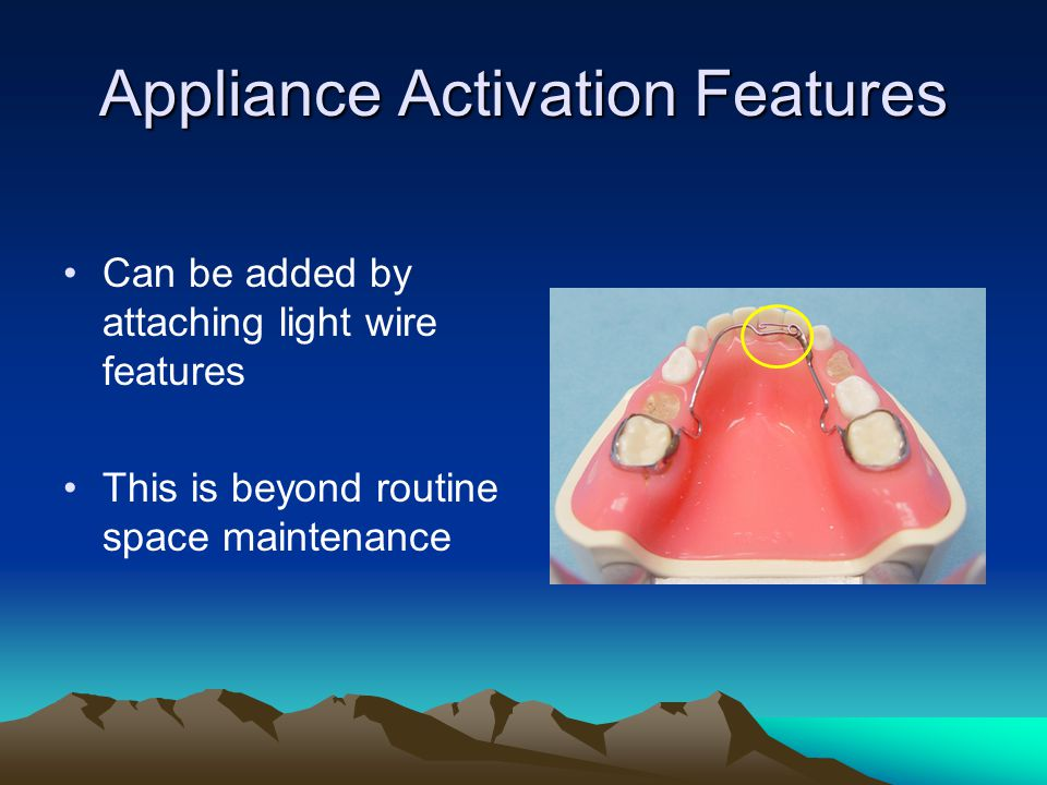 Appliance Activation Features