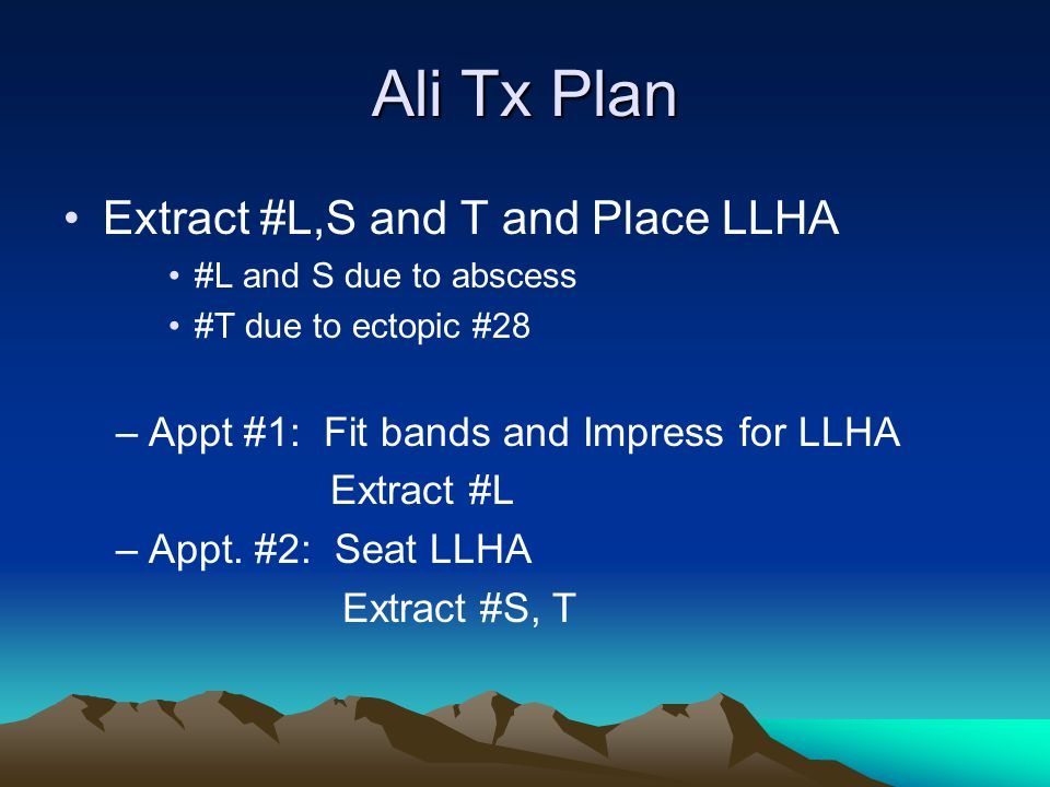 Ali Tx Plan Extract #L,S and T and Place LLHA